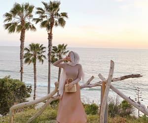 dress, pink, and sea ocean image