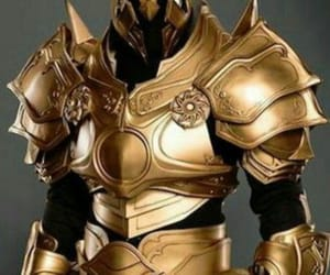 armor, warrior, and golden image