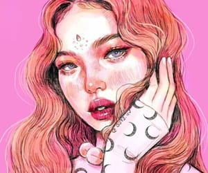 drawing, girl, and pastel image
