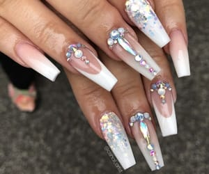 aesthetic, alternative, and long nails image