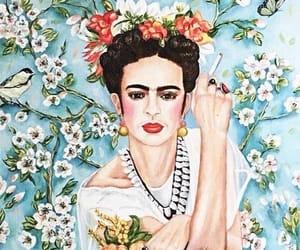 frida kahlo, illustration, and pintora image