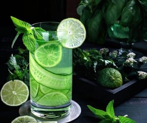 beverage, drinks, and green image