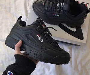 shoes, Fila, and black image