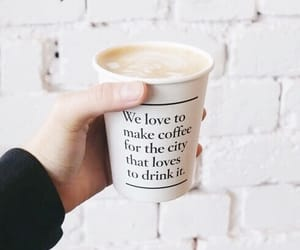 coffee, quotes, and drink image