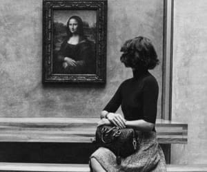 art, mona lisa, and museum image