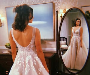 dress, Nina Dobrev, and wedding image