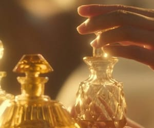 gold, aesthetic, and perfume image