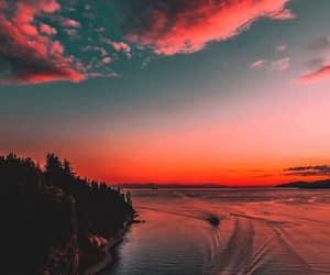 sunset, beautiful, and beach image