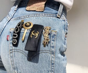 chanel, gucci, and denim image