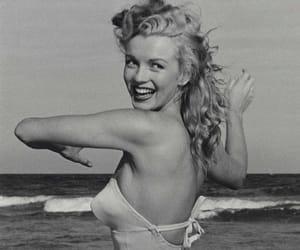 40s, b&w, and beach image