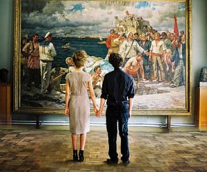 art, couple, and museum image