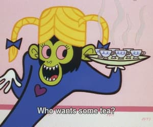 tea, cartoon, and powerpuff girls image