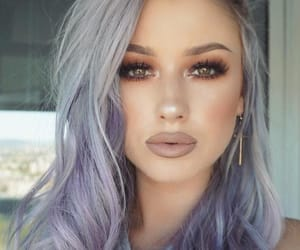 beauty, happy, and makeup image