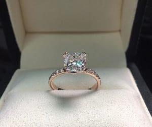 ring, diamonds, and wedding image