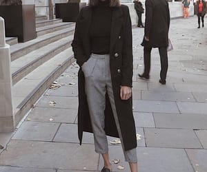 black, outfit, and stylé image