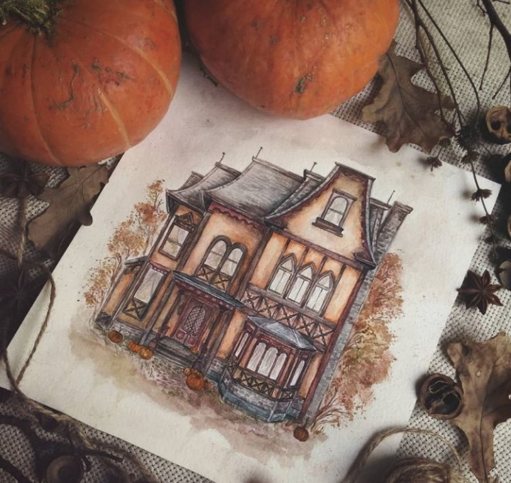 autumn and drawings image