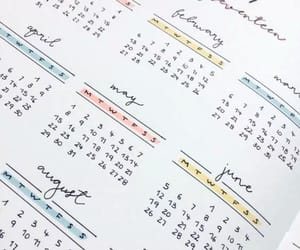month, calendar, and bullet journal image