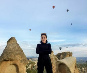 balloons, black, and cappadocia image