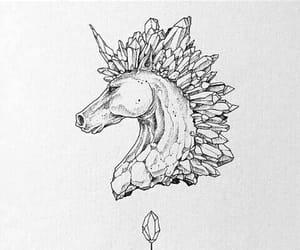 art, horse, and unicorn image