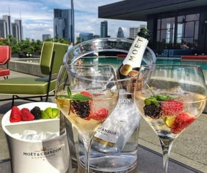 champagne, luxury, and fruit image