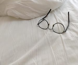 white, aesthetic, and glasses image