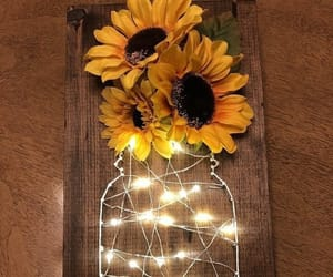 sunflower, decor, and diy image