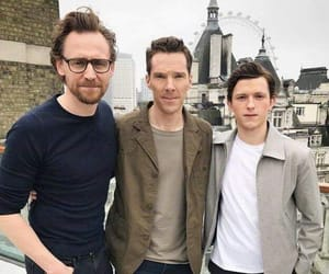 tom holland, loki, and tom hiddleston image