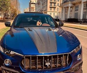 blue, car, and maserati image