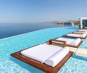 pool, travel, and Greece image