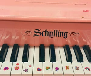 aesthetic, peach, and piano image