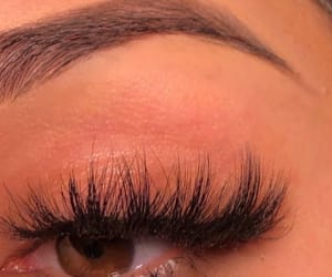 beauty, lashes, and makeup image