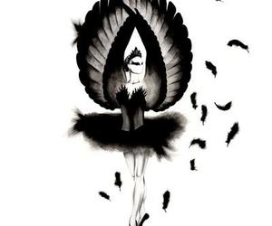 black swan, art, and ballet image