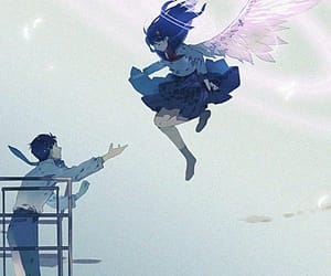 angel, love, and blue image