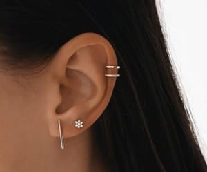 piercing, earrings, and accessories image