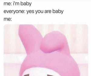 meme, my melody, and sanrio image