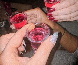 drinks, nails, and night image