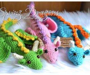 amigurumi, dragon, and crochet image