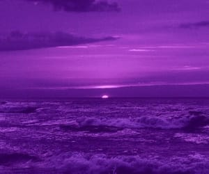 purple, aesthetic, and sea image