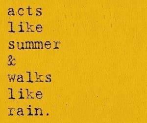 quotes, summer, and rain image