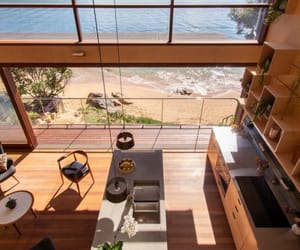 kitchen, beach, and design image