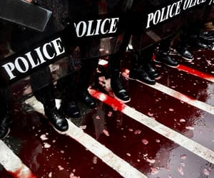police and blood image