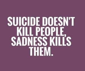 sadness, suicide, and depression image