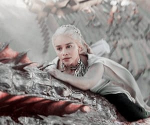 mom and son, daenerys targaryen, and dragon queen image