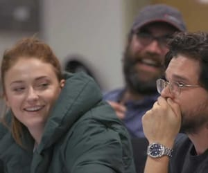 game of thrones, kit harington, and sophie turner image