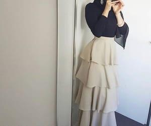 hijab and skirt image