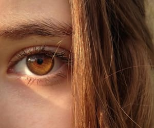 eyes, girl, and brown image