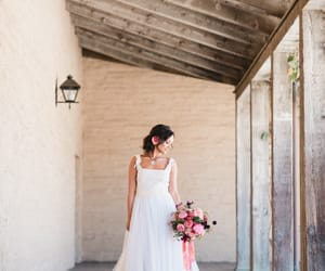 wedding dress, tulle wedding gown, and lace wedding dress image