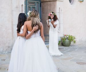 bridal gown, wedding gown, and lace wedding dress image