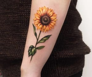 body art, daisies, and fashion image