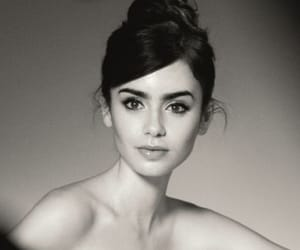 lily collins, beautiful, and black and white image